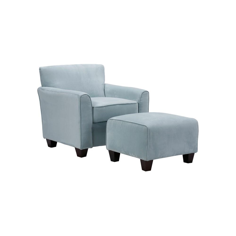 Leonardo Chair & Ottoman - Sky Blue - Handy Living