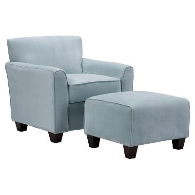 Leonardo Microfiber Arm Chair u0026 Ottoman - Handy Living  sc 1 st  Target & Leonardo Microfiber Arm Chair u0026 Ottoman - Handy Living : Target