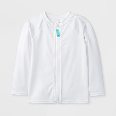 cef32ecdb39fd Toddler Boys' Long Sleeve Zip Rash Guard - Cat & Jack™ White : Target