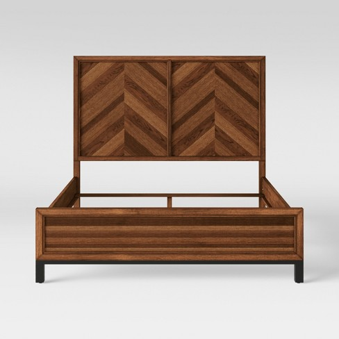 Queen Bed Rochester Parquet Brown - Threshold™ - image 1 of 5