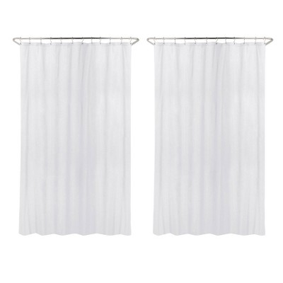 2pk Waterproof Fabric Heavy Weight Shower Liner White - Made By Design™