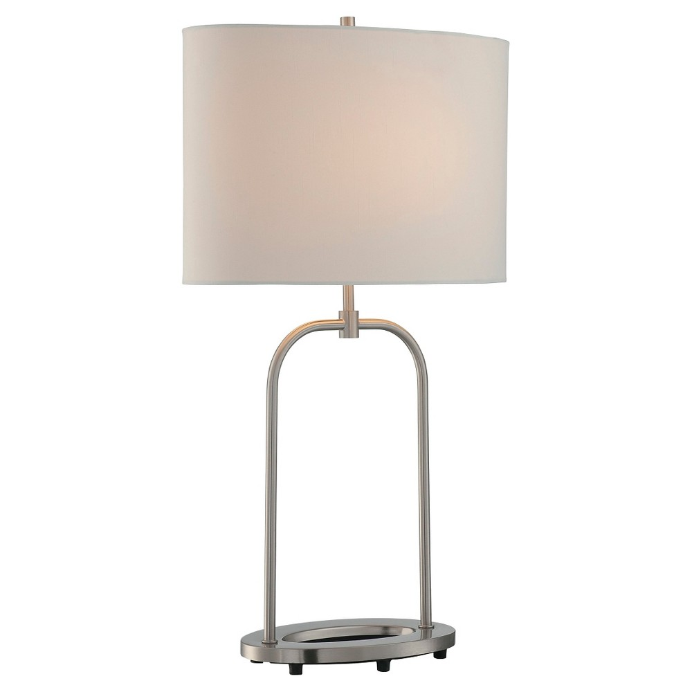Cailean 1 Light Table Lamp (Lamp Only) - Steel/Off White (Silver/Off White)