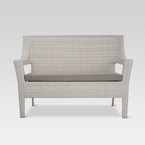 Southcrest Wicker Patio Loveseat - Gray - Threshold™ - image 1 of 4
