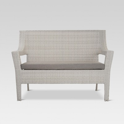 Southcrest Wicker Patio Loveseat   Gray   Threshold™