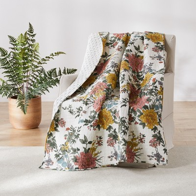 Briar Floral Quilted Throw - Levtex Home