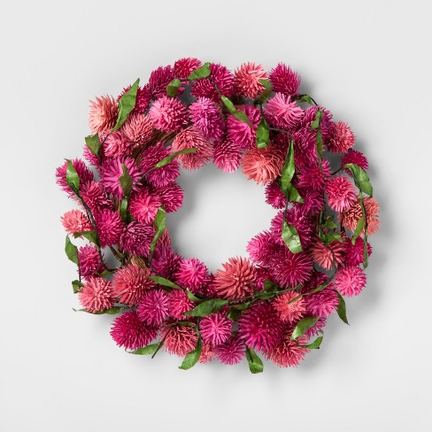 "11"" Dried Thistle Wreath Pink - Smith & Hawken™ - image 1 of 1"