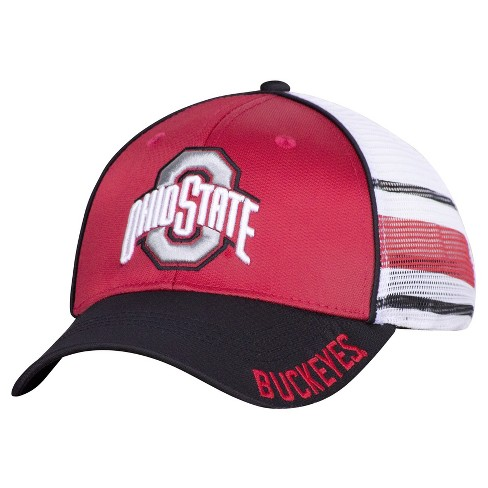 NCAA Ohio State Buckeyes Men's Flex Fit with Mesh Audible Baseball Hat - image 1 of 2
