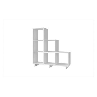 "Cascavel 38.58"" Stair Cubbies White - Manhattan Comfort"