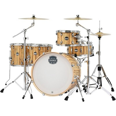"""Mapex Mars Series 5-Piece Crossover Shell Pack with 22"""" Bass Drum Driftwood Chrome"""