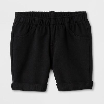 Toddler Girls' Cargo Shorts - Cat & Jack™ Black 12M