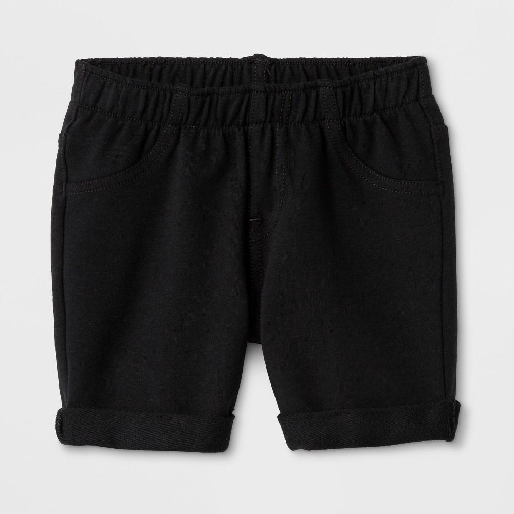 Toddler Girls' Cargo Shorts - Cat & Jack Black 3T