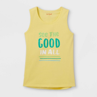 Boys' 'See the Good in All' Tank Top - Cat & Jack™ Yellow