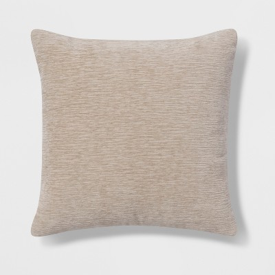 Oversize Square Chenille Pillow Neutral - Threshold™