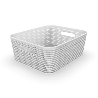 11L Medium Wave Design Storage Bin White - Room Essentials™