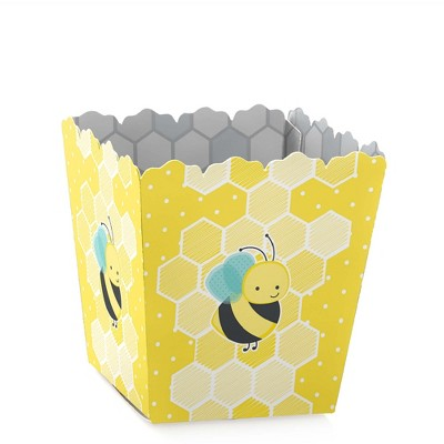 Big Dot of Happiness Honey Bee - Party Mini Favor Boxes - Baby Shower or Birthday Party Treat Candy Boxes - Set of 12