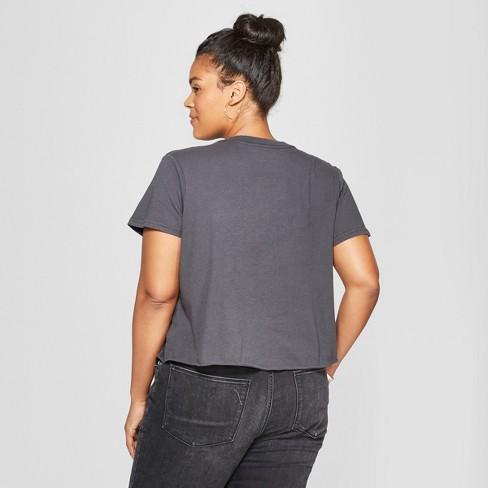 51ddad32 Women's Michael Jackson Plus Size King Of Pop Short Sleeve Cropped Graphic T -Shirt (Juniors') Black : Target