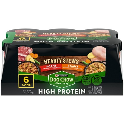 Purina Dog Chow High Protein Hearty Stews Beef & Chicken Wet Dog Food - 13oz/6ct Variety Pack