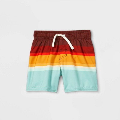 Toddler Boys' Colorblock Swim Shorts - Cat & Jack™ Red
