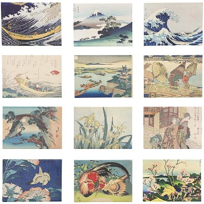 12 Pack Hokusai Designs Refrigerator Fridge Magnets Assorted 3 5 X 2 Inches Each Target