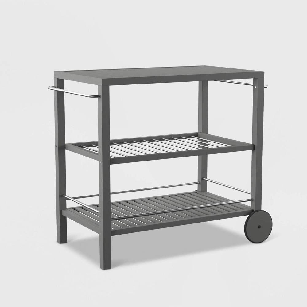 Image of Outdoor Patio Bar Cart - Gray - SEI