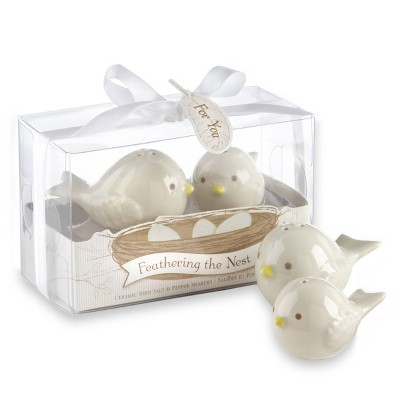 12ct Feathering the Nest Ceramic Birds Salt & Pepper Shakers