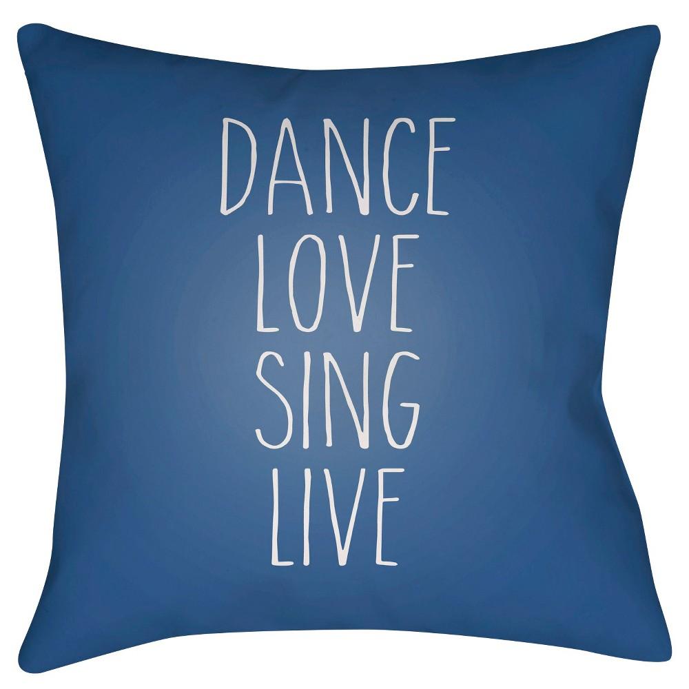 Navy (Blue) Inspire Throw Pillow 16
