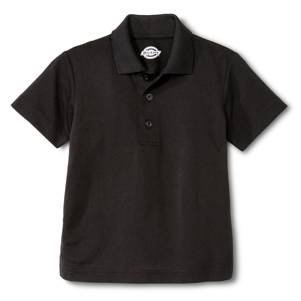 Dickies Little Boys' Performance Uniform Polo Shirt - Black L