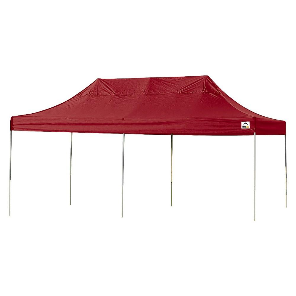 Shelter Logic 10' x 20' Pro Straight Leg Pop-Up Canopy - Red