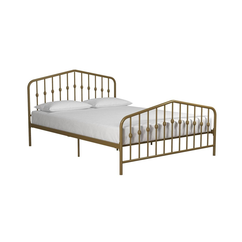 Image of Full Bushwick Metal Bed Gold - Novogratz