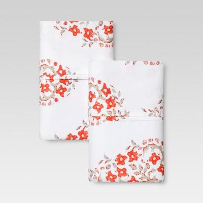 Performance Printed Pillowcase (King)Orange Paisley 400 Thread Count - Threshold™
