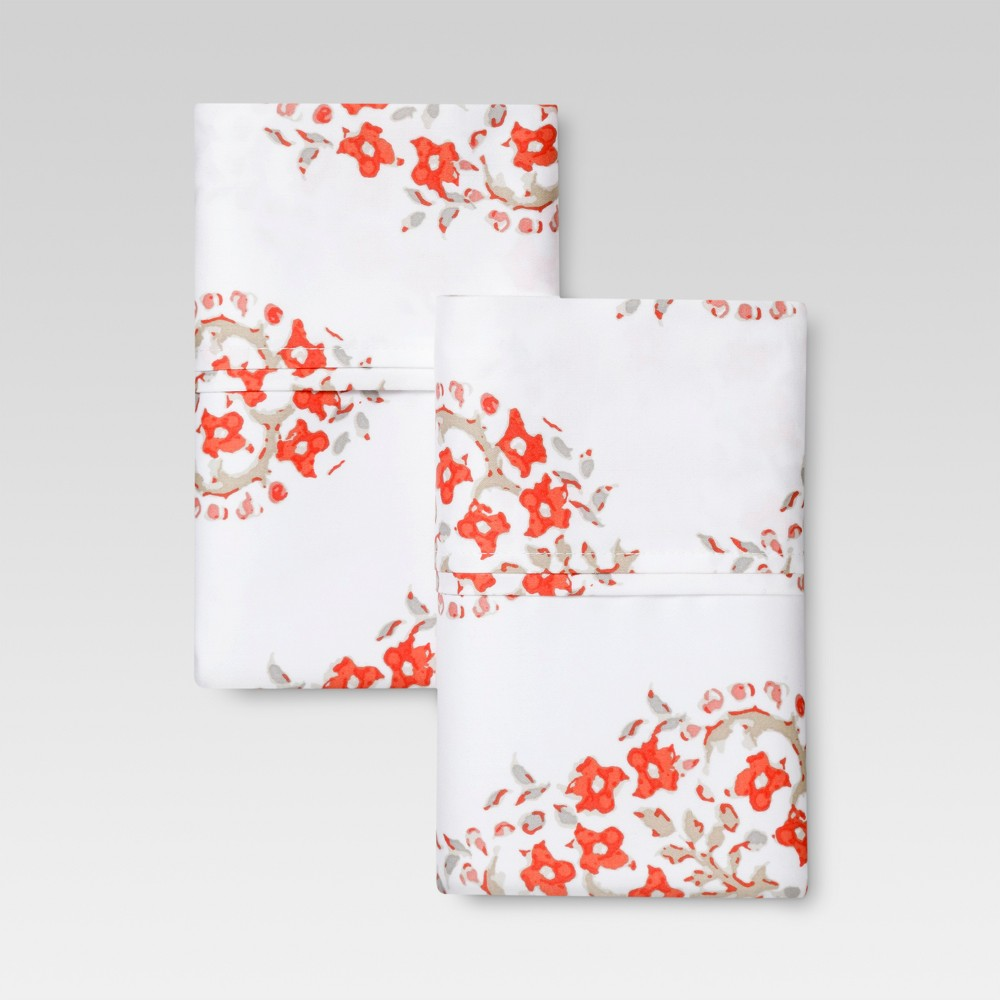 Performance Printed Pillowcase (King) Orange Paisley 400 Thread Count - Threshold was $22.99 now $14.94 (35.0% off)
