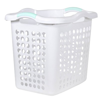2 Bushel Hamper With Divider Bag White - Room Essentials™