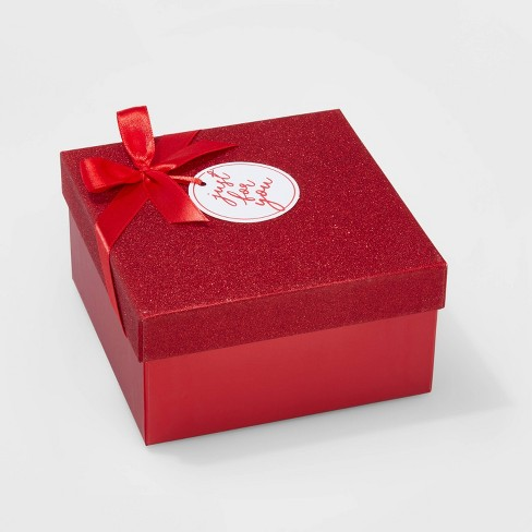 Christmas Glitter Ornament Gift Box Red - Wondershop™ - image 1 of 1