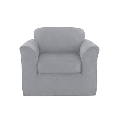 Ultimate Stretch Chair Suede Slipcover - Sure Fit
