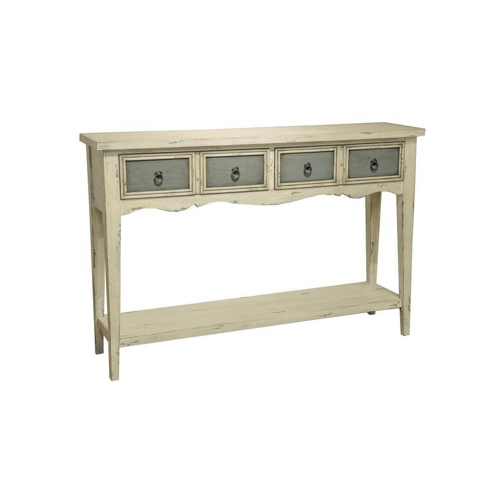 Kincaid Two Tone Distressed Console Table - White - Pulaski