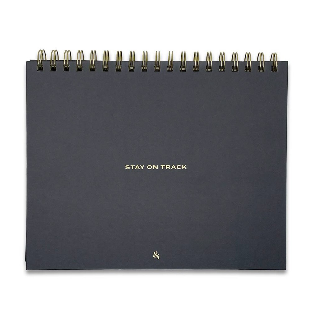 Undated Planner 8 34 X10 34 Stay On Track Black Wit 38 Delight