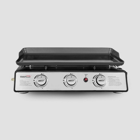 Royal Gourmet Pd1301s Portable Table Top 24 Gas Grill With 3 Burner Propane Griddle With Cover Black Target