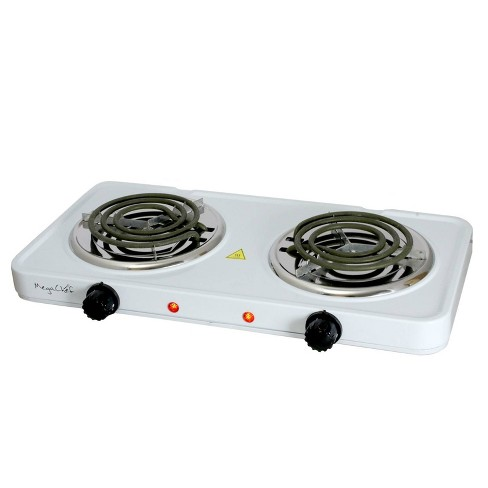 MegaChef Portable Dual Electric Coil Cooktop - White - image 1 of 4