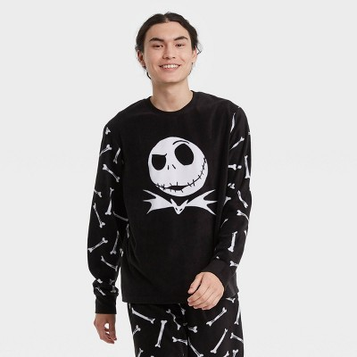 Men's The Nightmare Before Christmas Jack 2pc Matching Family Pajama Set - Black