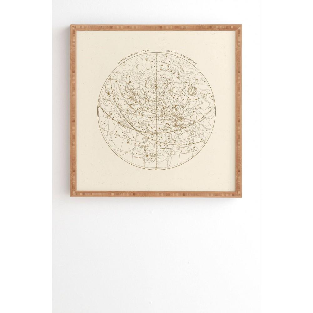 """Image of """"12"""""""" x 12"""""""" Florent Bodart Aster Visible Heavens Framed Wall Art Beige - Deny Designs, Size: 12""""""""12"""""""""""""""