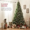 Best Choice Products Pre-Lit Pre-Decorated Holiday Christmas Tree w/ Flocked Tips, Metal Base - image 2 of 4