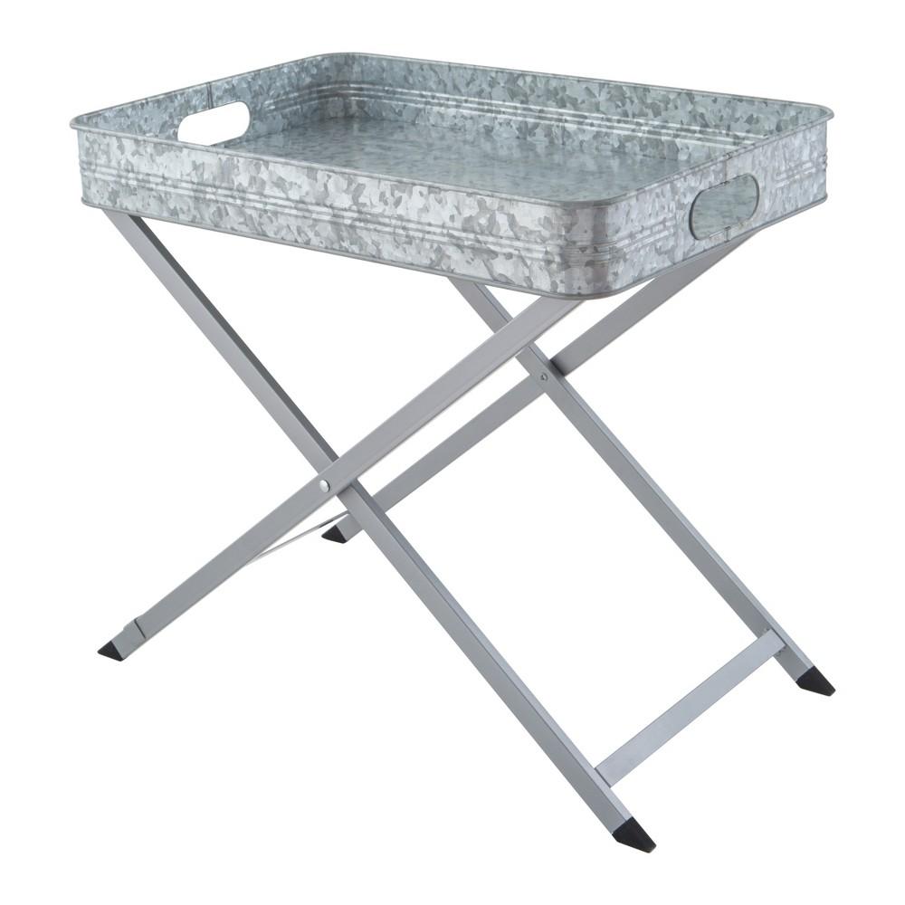 Image of Masonware Folding Tray Stand, Silver