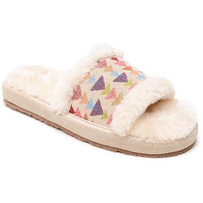 Minnetonka Women's Textile Fabric Pansy Slide Slide Slipper