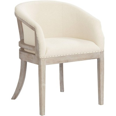 55 Downing Street Karlina Oatmeal Cotton Whitewashed Accent Chair