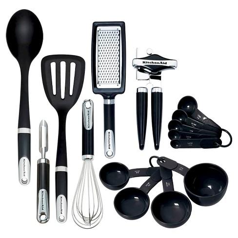kitchenaid tools and gadgets 15pc in set black - Kitchen Tools