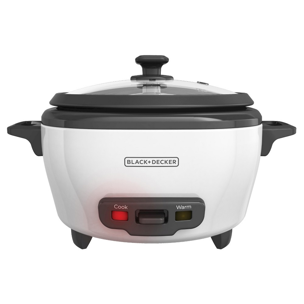 Image of BLACK+DECKER 6-Cup Cooked/3-Cup Uncooked Rice Cooker - White RC506