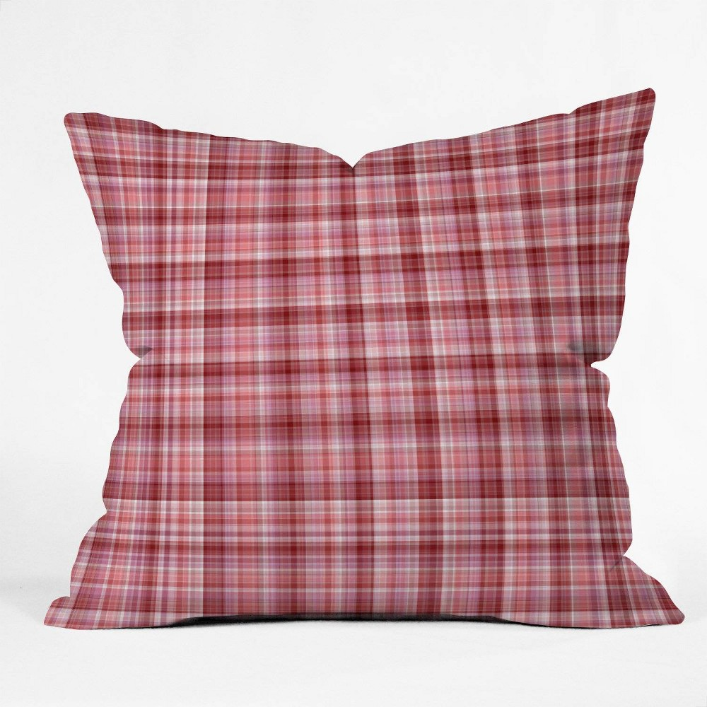 16 34 X16 34 Lisa Argyropoulos Holiday Plaid Throw Pillow Red Deny Designs