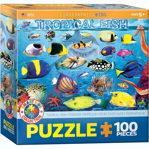 Eurographics Inc. Tropical Fish 100 Piece Jigsaw Puzzle - image 1 of 4