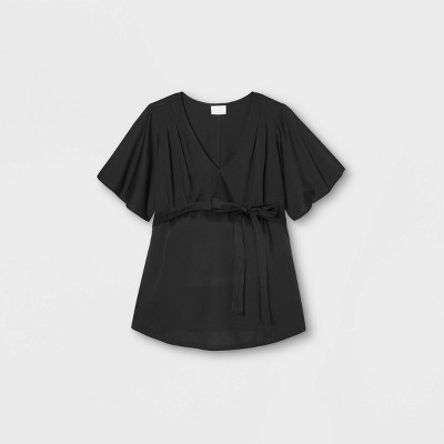 Maternity Short Sleeve Woven Blouse - Isabel Maternity by Ingrid & Isabel™