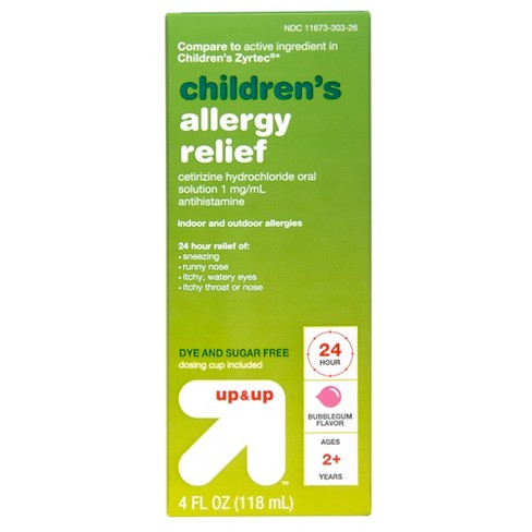 Cetirizine 5mg Allergy Relief Liquid - Bubblegum - 4 fl oz - Up&Up™ - image 1 of 5